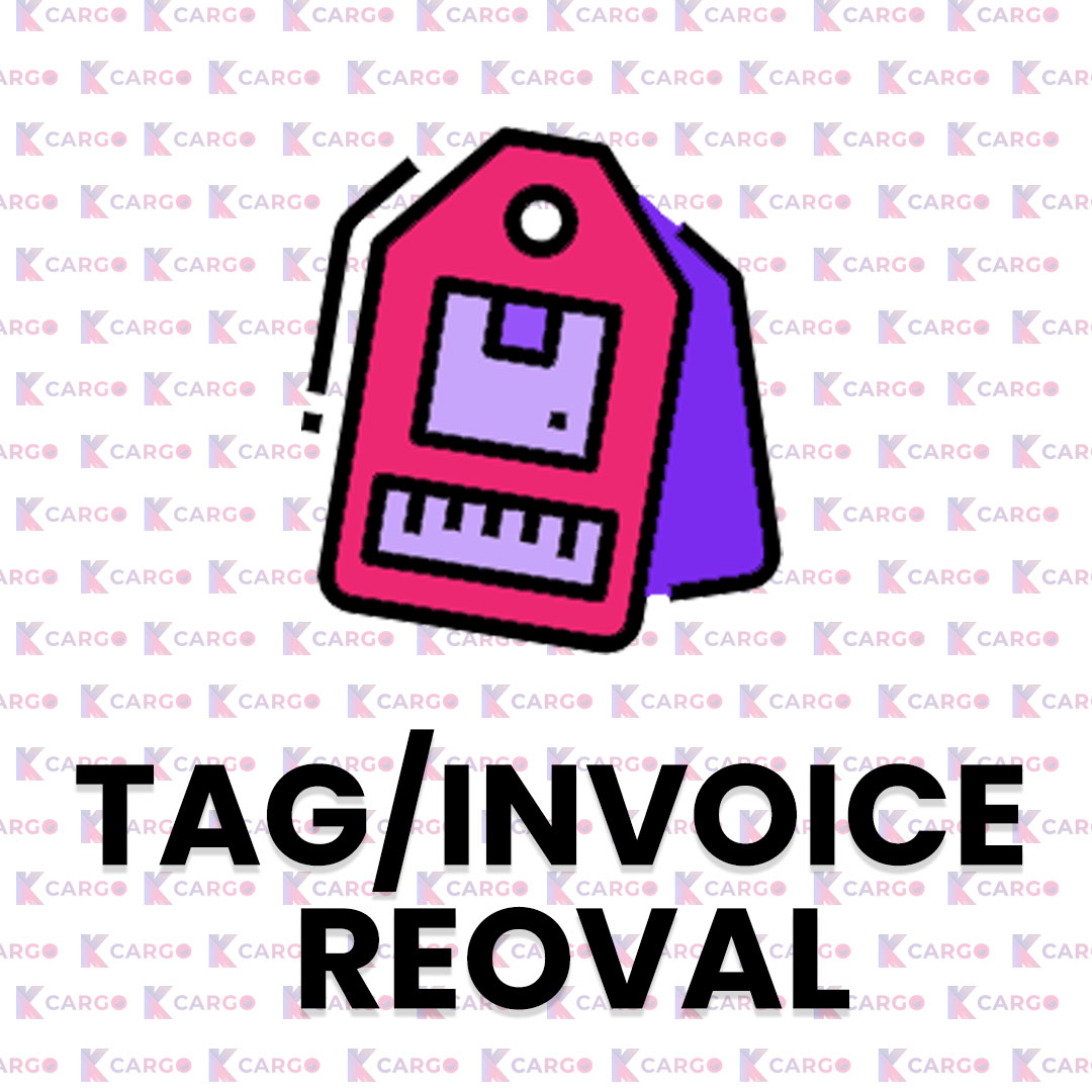 Tag/Invoice Removal